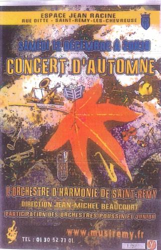 harmonie,saint remy,societe,musicale,concert,automne