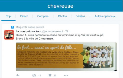 football,chevreuse,feminin,twitter