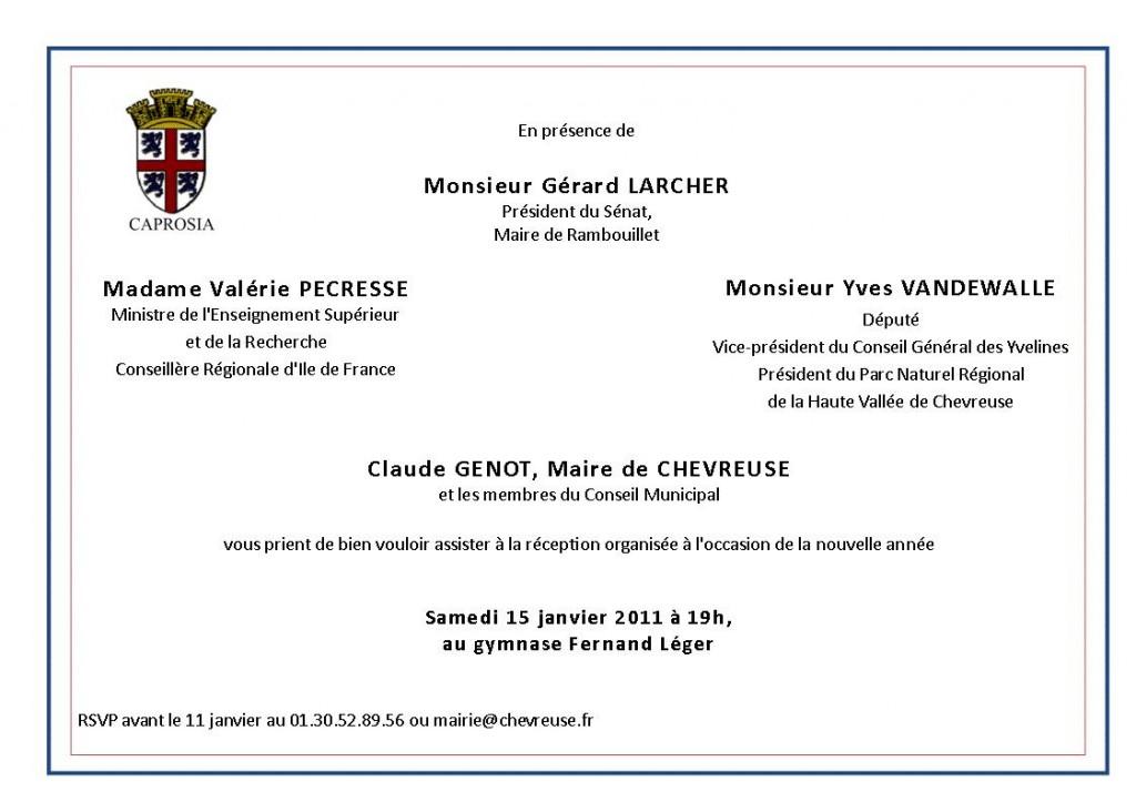 Invitation aux voeux 2011 le blog de chevreuse - Carte de voeux entreprise gratuite a imprimer ...
