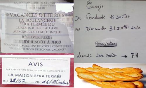 boulangerie,chevreuse,congé,juillet,aout,miche,boulanger,pain