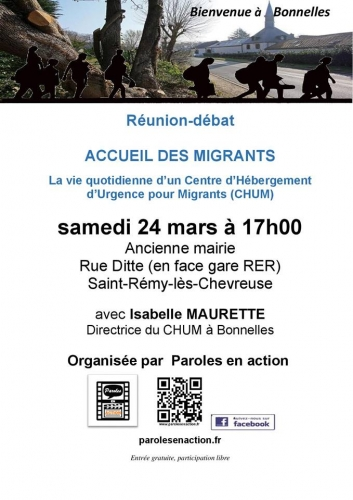 accueil,migrants,chum,bienvenue,bonnelles,maurette,paroles en action