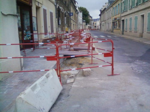 travaux,centre ville,trottoir